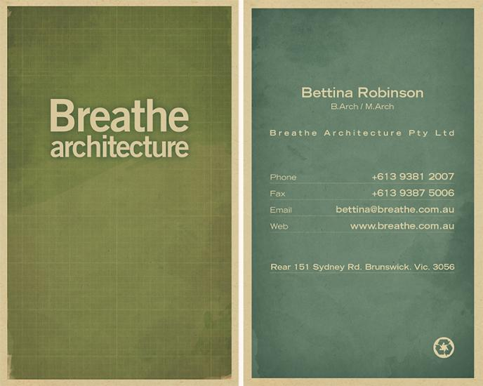 Printtogether sustainable printing news breathe architecture breathe architecture reinforces sustainable initiatives with recycled business card printing reheart Gallery