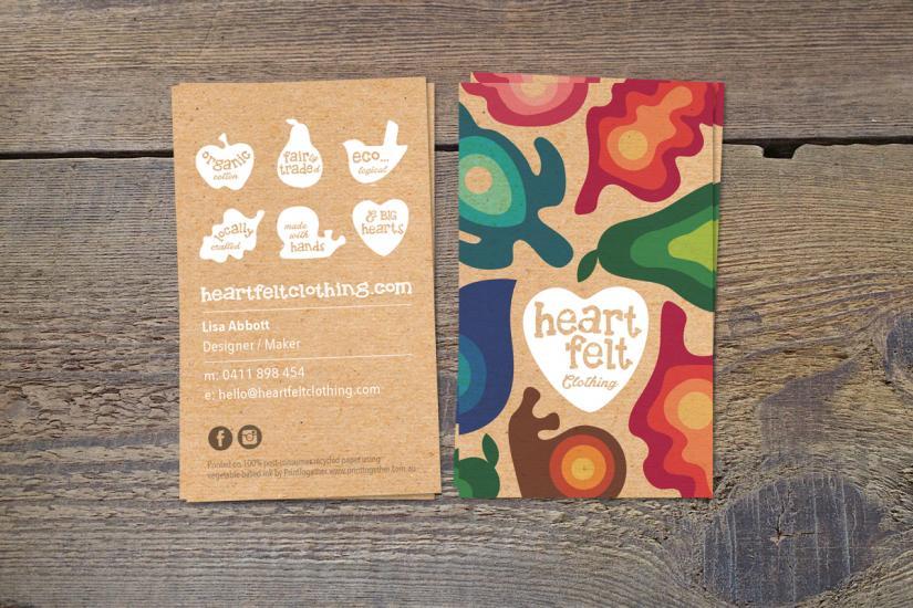 Printtogether sustainable printing news heartfelt design for heartfelt clothing business cards colourmoves