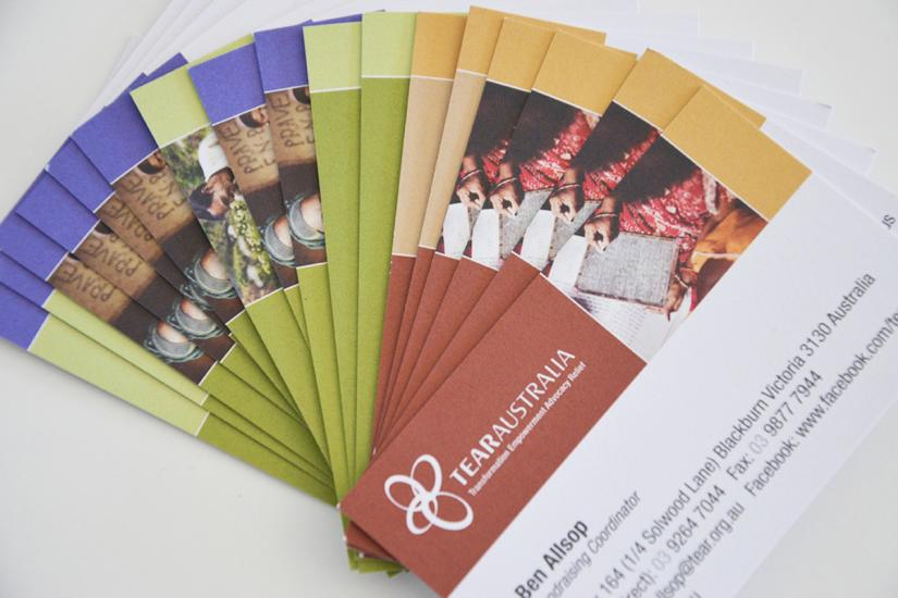 Printtogether sustainable printing news taking care of business tear australia business cards reheart Choice Image