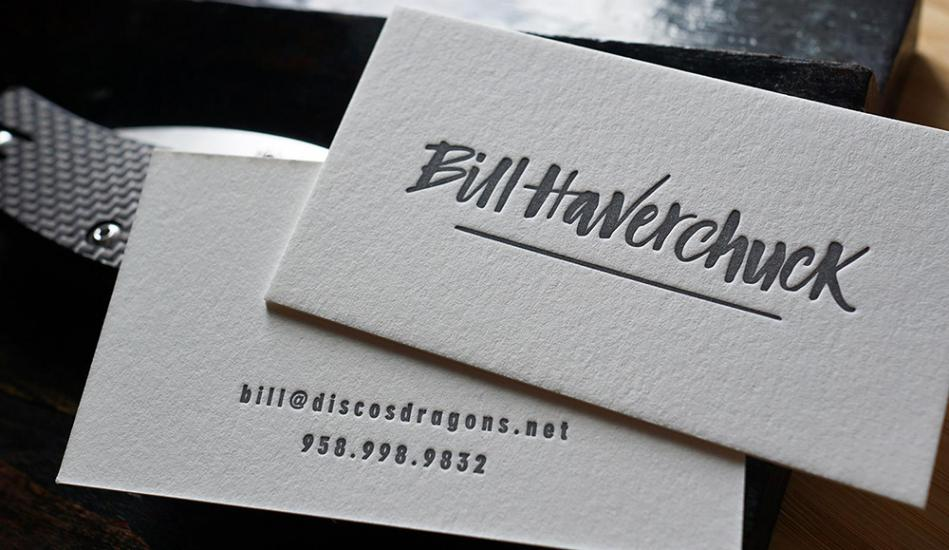 Printtogether sustainable printing news letterpress printing the letterpress plate simply imprints the design directly into the card this is very popular for business cards reheart Gallery