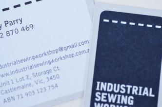 Industrial Sewing Workshop Business Cards